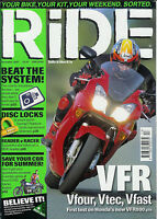 RIDE Dec 2001 GPz900R Dominator GT550 ZX-9R VFR800