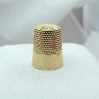 VICTORIAN SIMON BROTHERS 14K YELLOW GOLD  Sz 8 SEWING THIMBLE 4.3gr