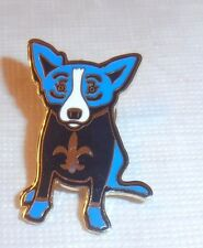 Very Rare George Rodrigue Blue Dog New Orleans Saints Pin Pinback