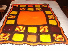 New Handmade Handcrafted Crochet Afghan Throw Blanket ~  Multi Bright Colors