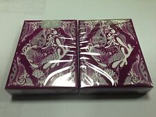 Purple Floral playing cards from Aloys Studio