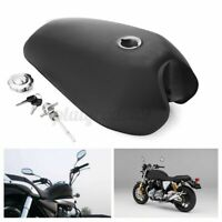 9L 2.4 Gallon Motorcycle Fuel Gas Tank Key Switch For Honda CG125 Matte Black