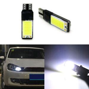 2pcs 6W LED Bright White 6000K COB Canbus T10 W5W 194 168 Wedge Light Bulb 12V