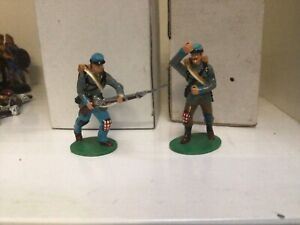 King and Country Confederate American Civil War glossy toy soldiers.