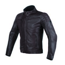 Dainese Bryan Mens Leather Motorcycle Jacket Brown