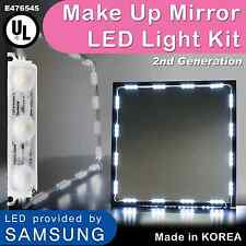 Mirror LED Light For Cosmetic Makeup Vanity Mirror Lighted White w/ Dimmer 12ft