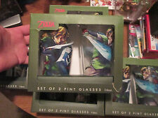 The Legend of Zelda SET OF 2 PINT GLASSES 16oz (1 PACK) NINTENDO Skyward Sword