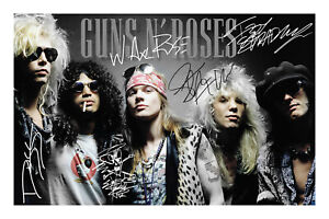 Guns N' Roses Signed A4 Photo Print Autograph Music And Band