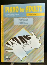 Schaum Piano For Adults Level 3 Song Book Self Teach Instructional T57