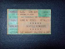 GUNS N ROSES/ METALLICA& MOTORHEAD 1992 TICKET STUB**SEATTLE KINGDOME**MEGA RARE