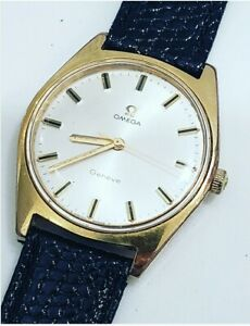 Vintage Omega Geneve Cal. 601 Ref 135.041 Mens 34.5mm Manual Stainless Watch