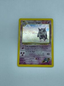 Pokemon SABRINA's GENGAR #14 Gym Heroes Holo Rare