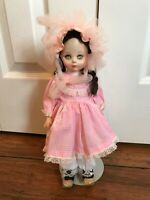 Vintage Madame Alexander shepherdess doll - used - with doll stand