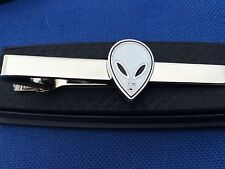 ALIEN FACE UFO tie clip great gift idea