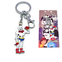 Undertale Papyrus Skeleton Keychain Keyring Pendant Gift Collection Cosplay