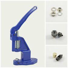 Ösenpresse + 125 Ösen silber 12mm rostfrei + Werkzeuge, für Nieten, Druckknöpfe
