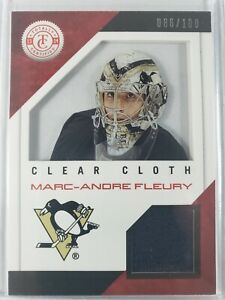 2013-14 Panini Totally Certified Clear Cloth Marc-Andre Fleury Jersey 86/100