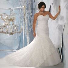 Plus Size Sleeveless Mermaid & Trumpet Wedding Dresses