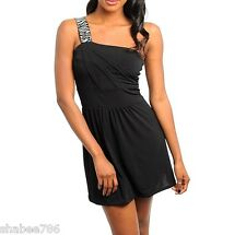R1i Dress Black Mini Thin Sheer Summer Club Party Career Cocktail Rave S M L