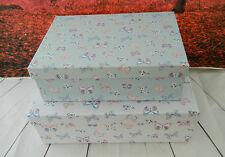 GIFT STORAGE BOXES GIFT BOX STACKING XMAS GIRL BOY  DECORATIVE SETS SIX FOUR