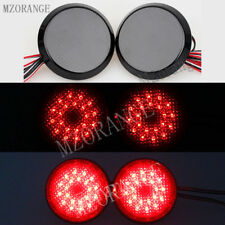 2x Black LED Tail Rear Bumper Ground Reflector Light For Toyota Corolla 2009-10