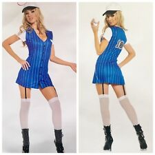 SEXY BASEBALL PLAYER COSTUME THIRD BASE 3 PIECE COSTUME SIZE ADULT SMALL
