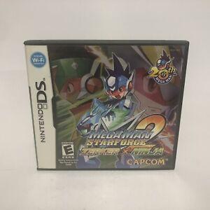 Megaman Starforce 2 Zerker X Ninja (Nintendo DS) Case Manual Cartridge Tested