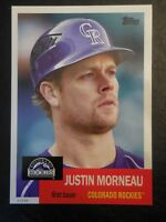 2016 Archives Baseball 5x7 Set Break 1953 Design #/49 Justin Morneau Rockies #8