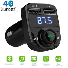 Wireless Bluetooth Handsfree Car Kit Fm Transmitter Lcd Mp3 Player Usb ChargerB2