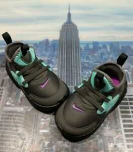 Nike React Presto Thunder Grey/Aurora Green TD Toddler Size 9c BQ4004 011 New