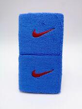"Nike Swoosh Wristbands Pacific Blue/University Red 3"" Men's Women's"