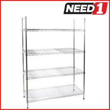 Chrome finish multi-purpose rack. 4 tier. Dimensions: 352mm D x 908mm W x 1350mm