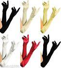Paire de gants satin , mode, mariage, bal, soirée, Théâtre, Déguisement, 55CM