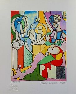 """Pablo Picasso ARTIST WITH SCULPTURE Estate Signed & Numbered Giclee Art 17"""" x11"""""""