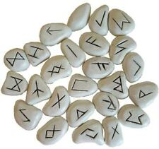 White Resin Futhark Rune Set!