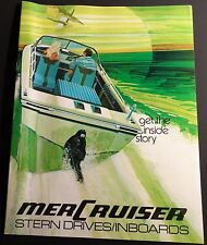 VINTAGE 1972 MERCRUISER STERN DRIVES SALES BROCHURE 22 PAGES  NICE  (644)