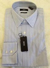 BNWT Boss Hugo Boss Men's Blue White Stripe Dress Shirt 15 32/33