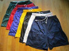 Men Jogging Shorts Plain 100% Polyester S-L 2 pocket Elastic Draw String 100 Pc