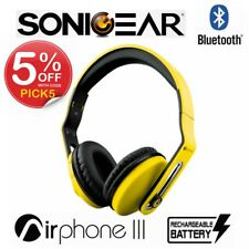 Wireless Headphones SonicGear Airphone III Bluetooth Stereo Headset Yellow