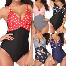 Damen Einteiler Monokini Bikini Push Up Strand Badeanzug Schwimmanzug Bademode