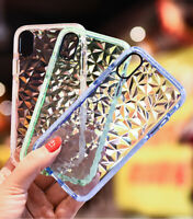 For iPhone 11 phone Case - Clear 3D Diamond Crystal Tough + Screen Protector