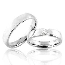 2 Trauringe Silber 925 mit Gravur+Etui Eheringe Verlobungsringe Ringe pr27-1t