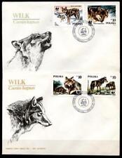 WWF Wölfe. 2 FDC. Polen 1985