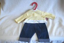 New Gotz Baby Doll 2 Pc Shirt Denim Pants Outfit-In Package-Made in Germany
