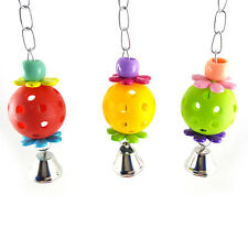 Hanging Parrot Chew Bell Ball Toy Cage For Pet Bird Cockatiel Parakeet