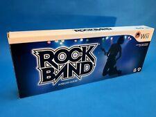 Wii Rock Band Wireless Stratocaster Guitar Original Box Dongle Strap Guitar Hero