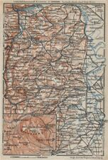 RHEINHESSEN. RHENISH HESSE. Mainz Mannheim Worms Kreuznach. Germany 1906 map