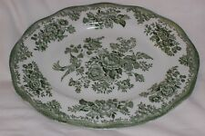 Enoch Wedgwood Tunstall Charger Serving Plate Green Oval