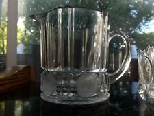 Creamer Milk Pitcher server, Frosted US Coins Glass vintage pressed eapg antique