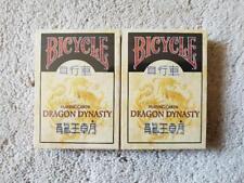 "2 x Bicycle Playing Card Decks Dragon Dynasty Rare Limited Custom Chinese Poker"""